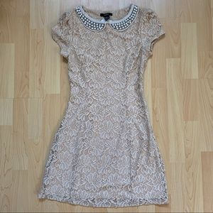 New Beige Forever 21 Lace Dress